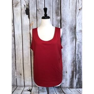 Chico's Solid Red Basic Cami Shell Tank Top